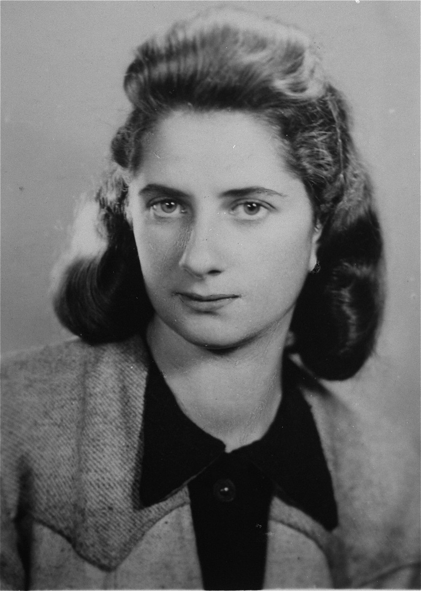 Portrait of Lodzia Hamersztajn, a member of the Hashomer Hatzair Zionist youth movement and a former courier for the Jewish underground in Poland.