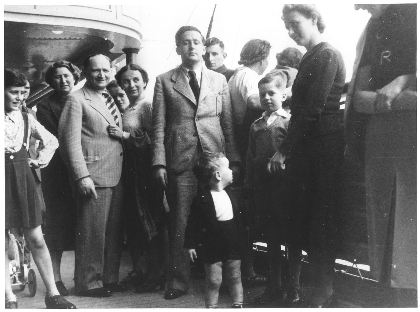 Passengers on the deck of the MS St. Louis.