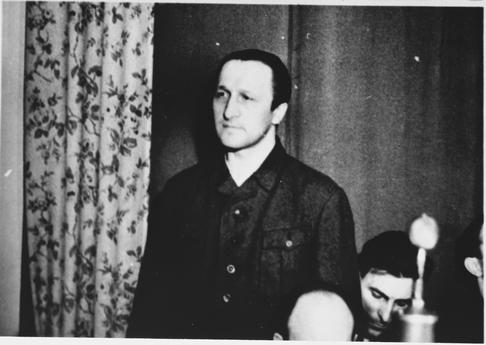 Defendant Martin Knittler at the Sachsenhausen concentration camp war crimes trial in Berlin.