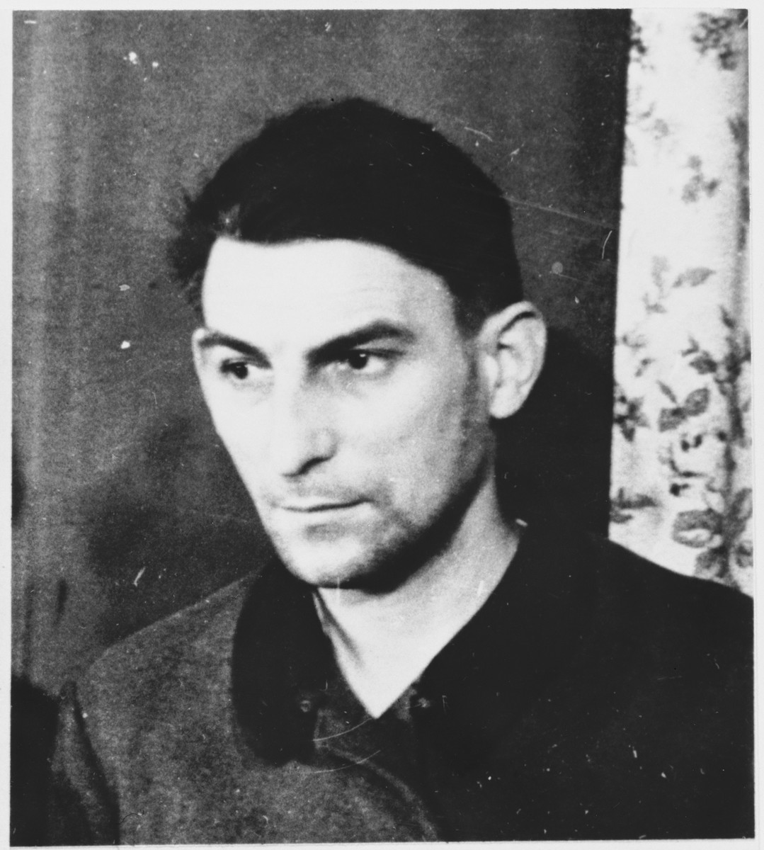 Defendant Gustav Sorge at the Sachsenhausen concentration camp war crimes trial in Berlin.