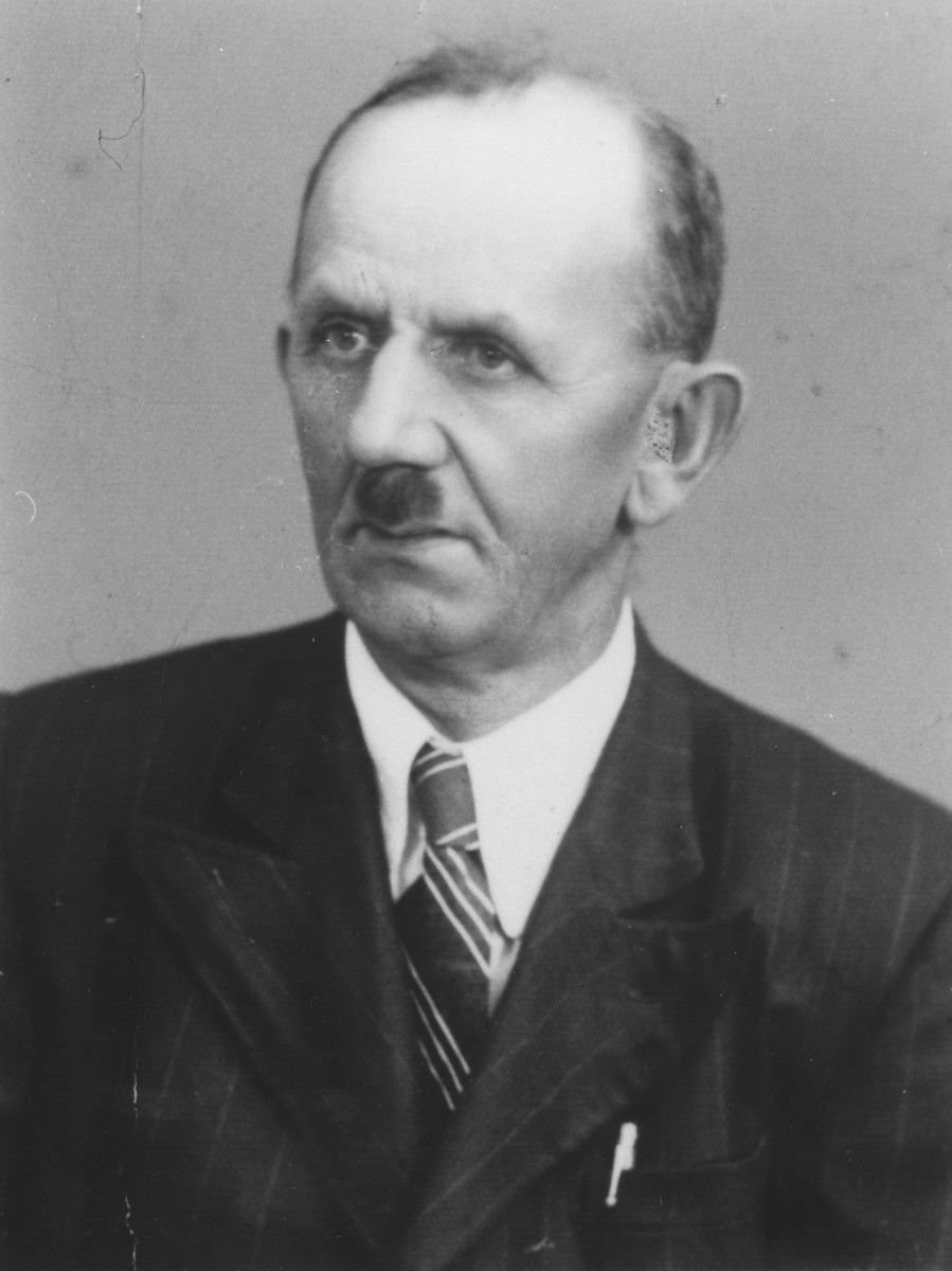 Portrait of Martin Ragala, a Lutheran Slovak who hid members of the Huber and Deutsch families on his farm during WWII.    Ragala had been a patient of Dr. Adolf Huber before the war.
