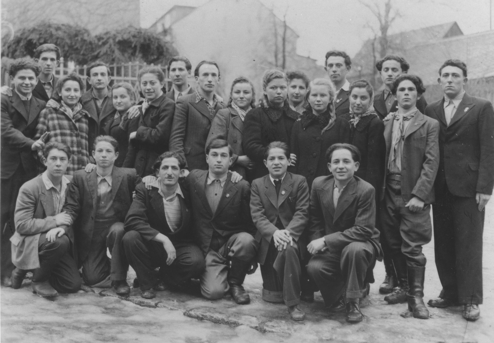 Group portrait of Jewish youth at the Schauenstein displaced persons camp for children.