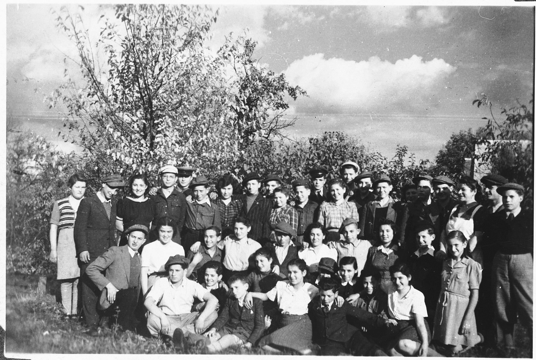 Jewish DP youth in a hachshara (Zionist collective) in Kosice.