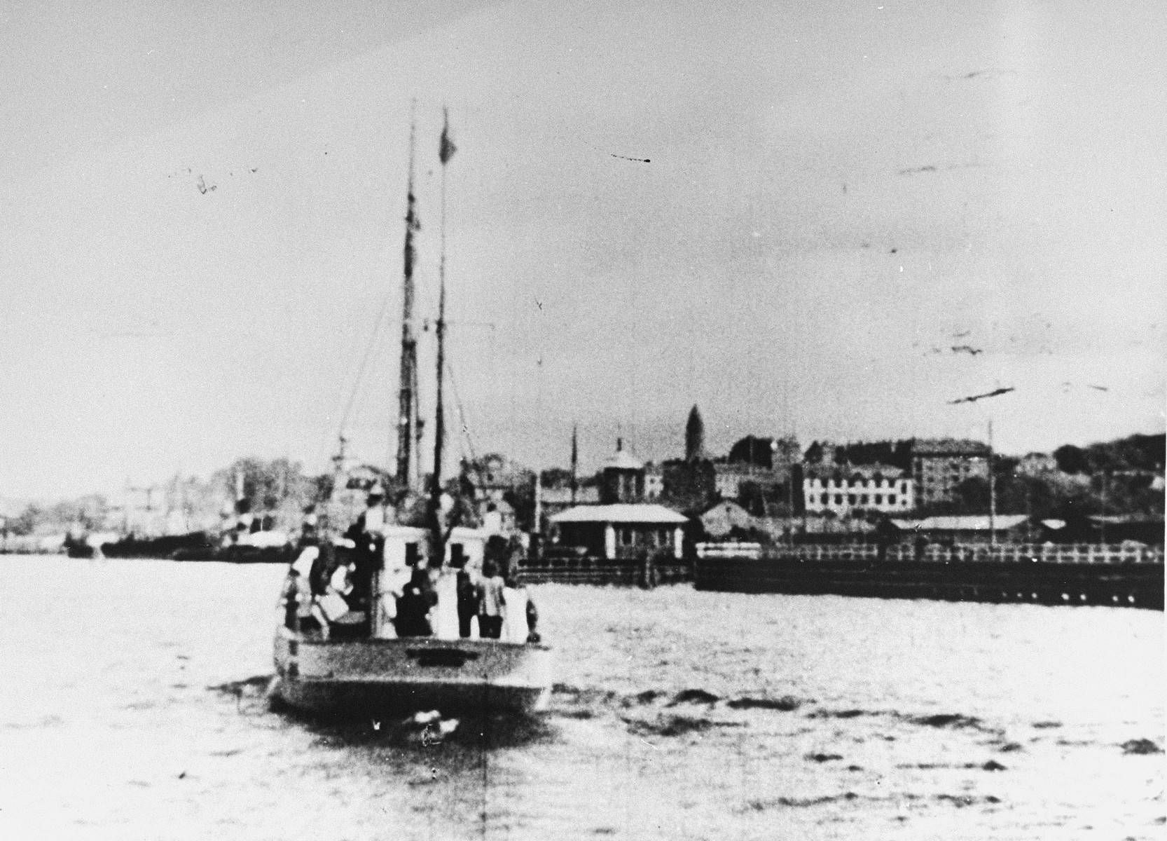 Jews on a rescue boat bound for Sweden.