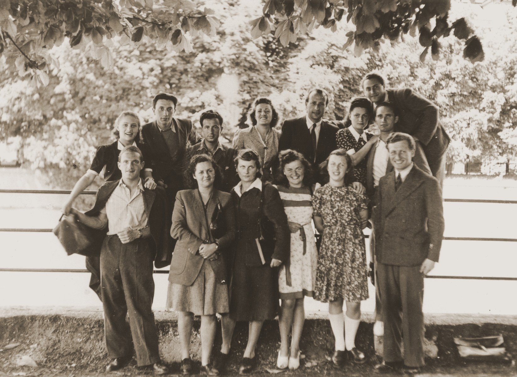 Group portrait of Jewish DP college students in Munich.
