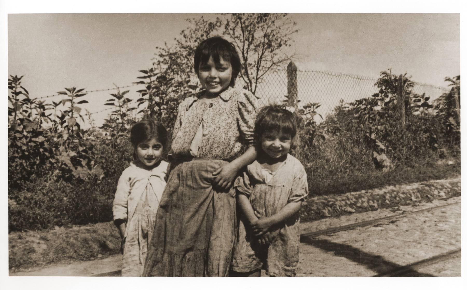 Romani (Gypsy) children in hiding during the German occupation in the Warsaw suburbs.