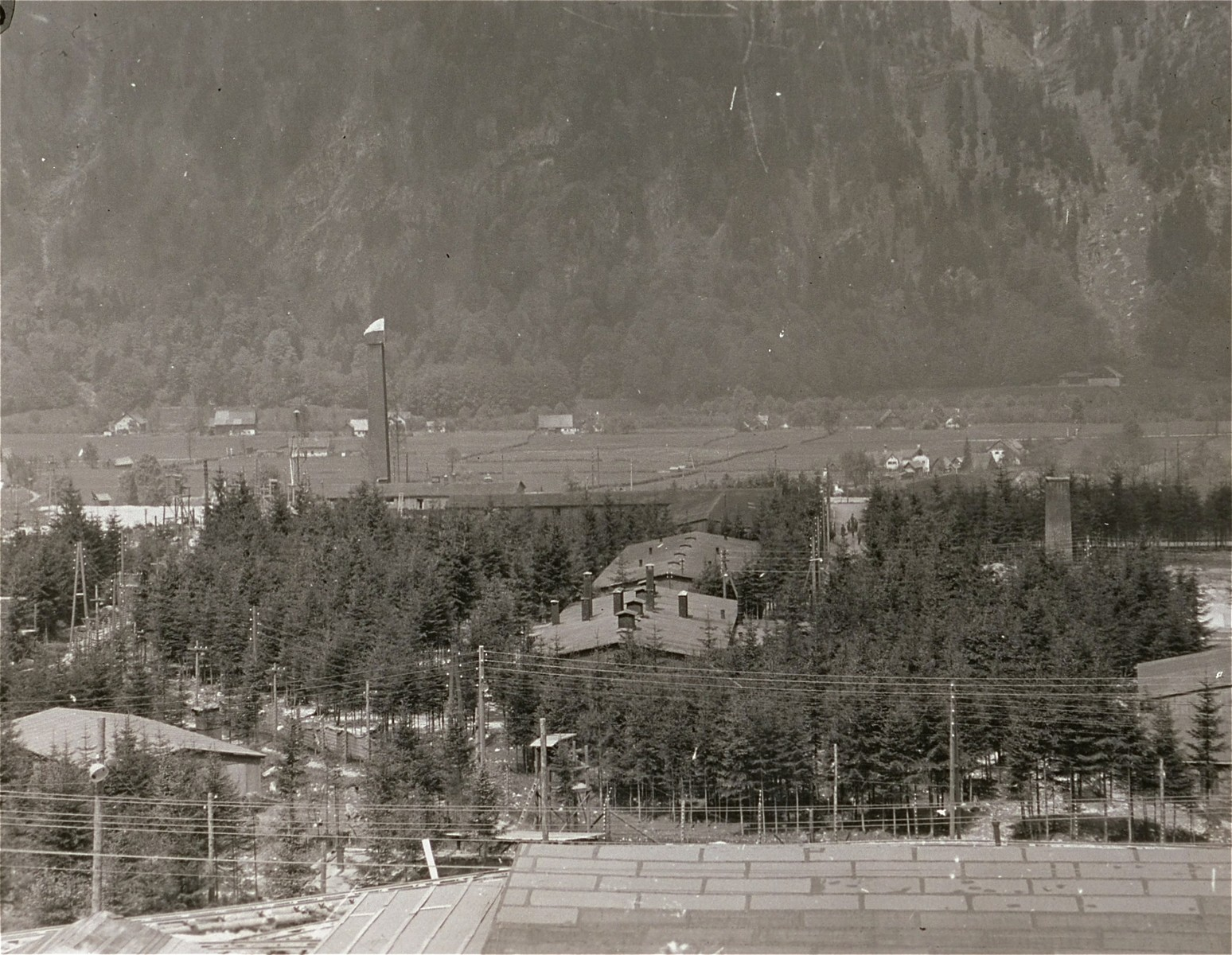 A view of the Ebensee concentration camp.