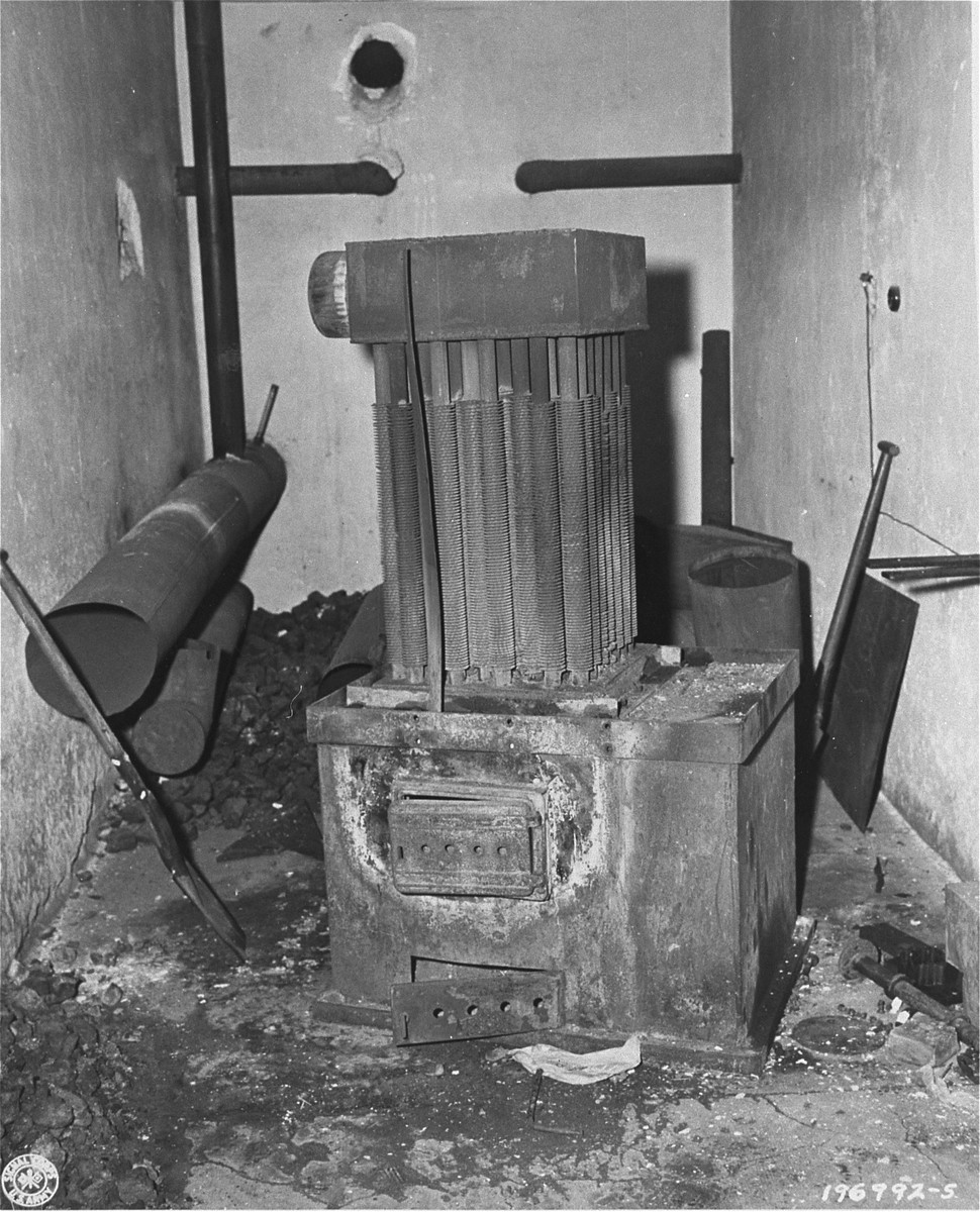 A coal-powered generator in the Natzweiler-Struthof concentration camp that was used to create gas for the execution of prisoners.