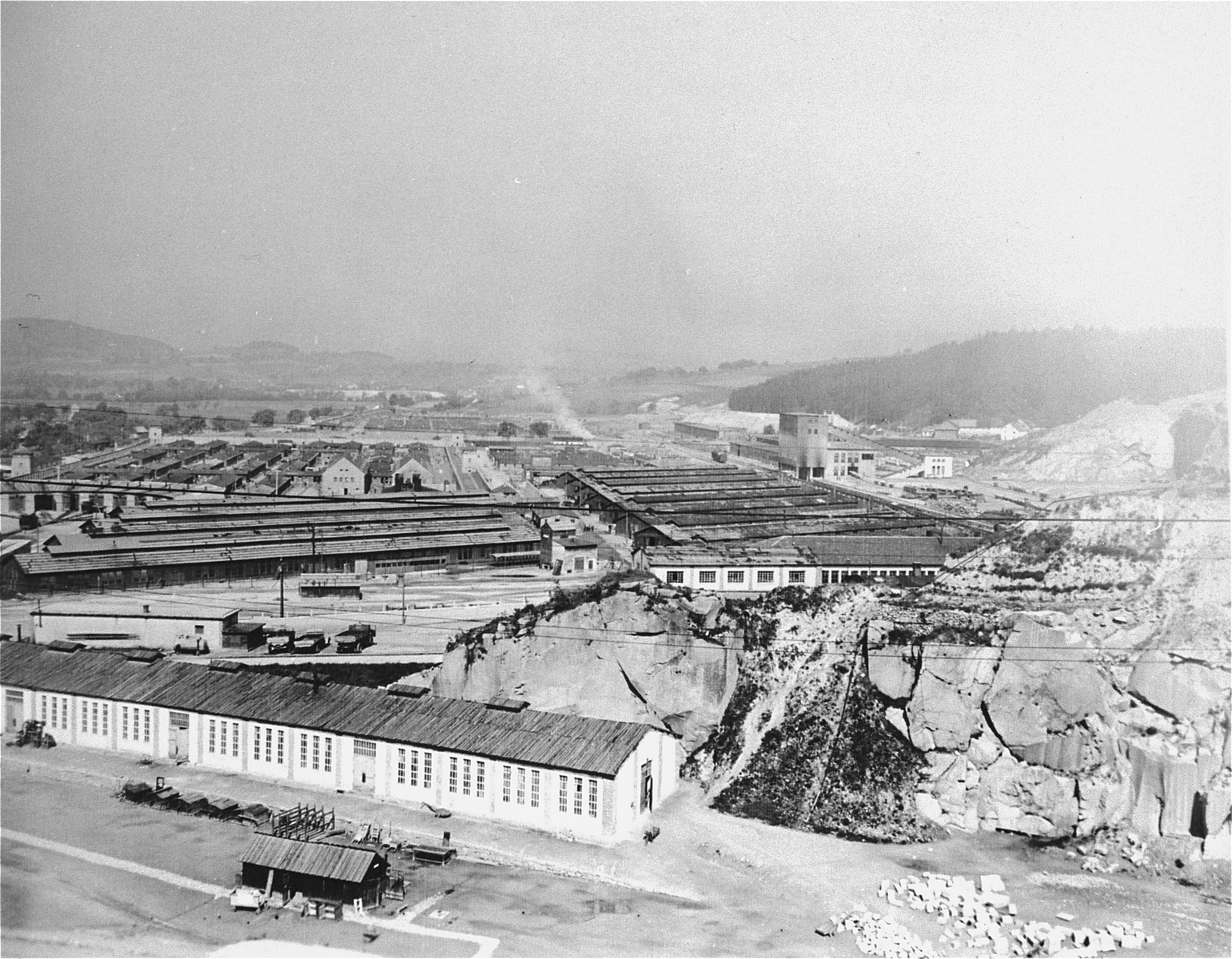View of the Gusen concentration camp after the liberation.
