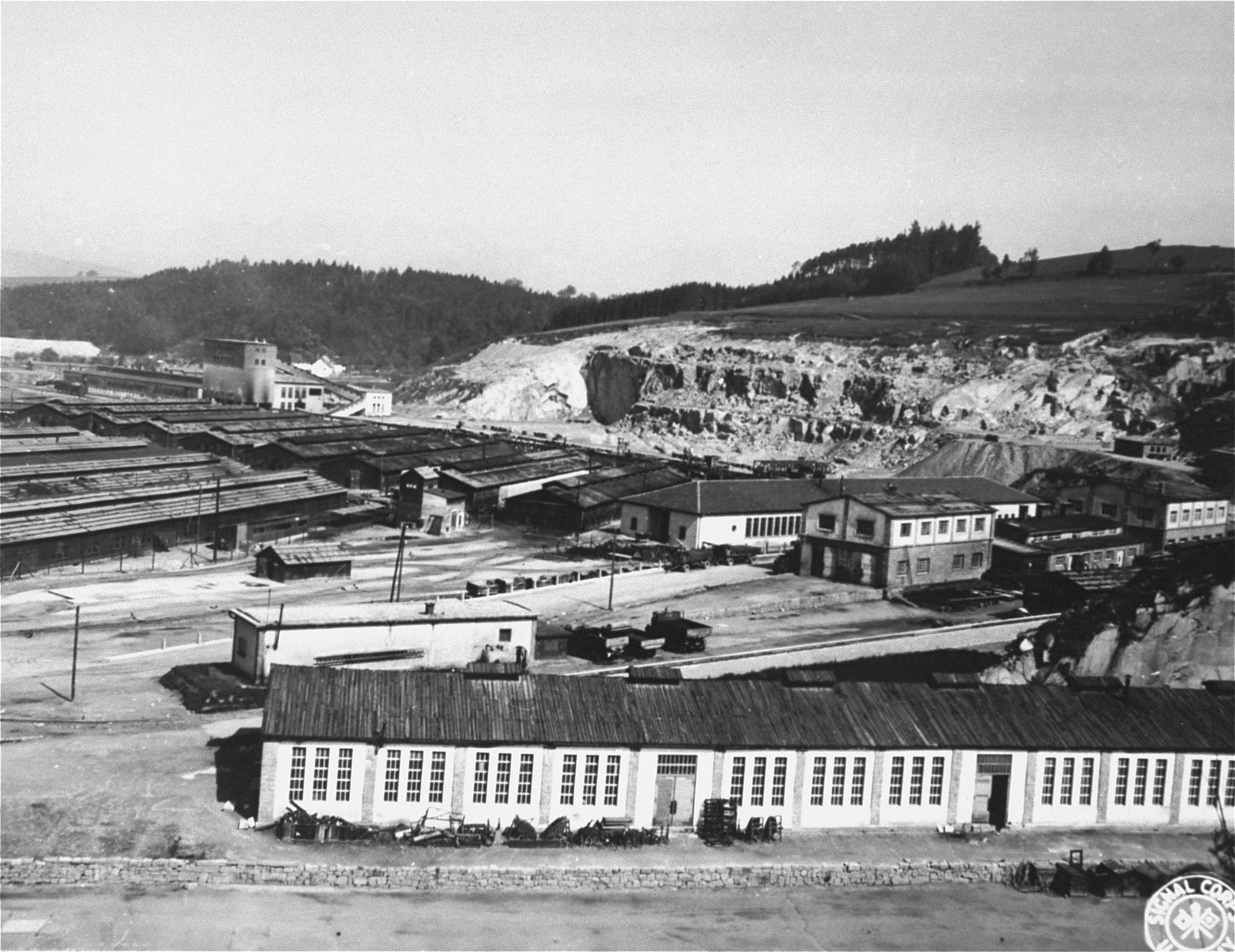 The Gusen concentration camp after liberation.