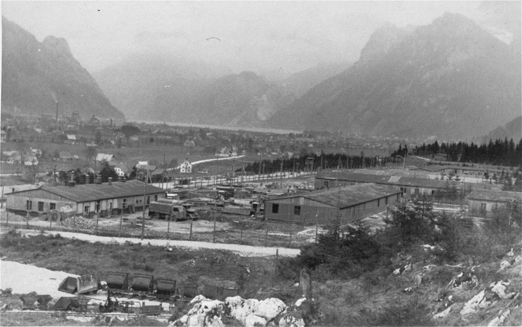 View of the Ebensee concentration camp.