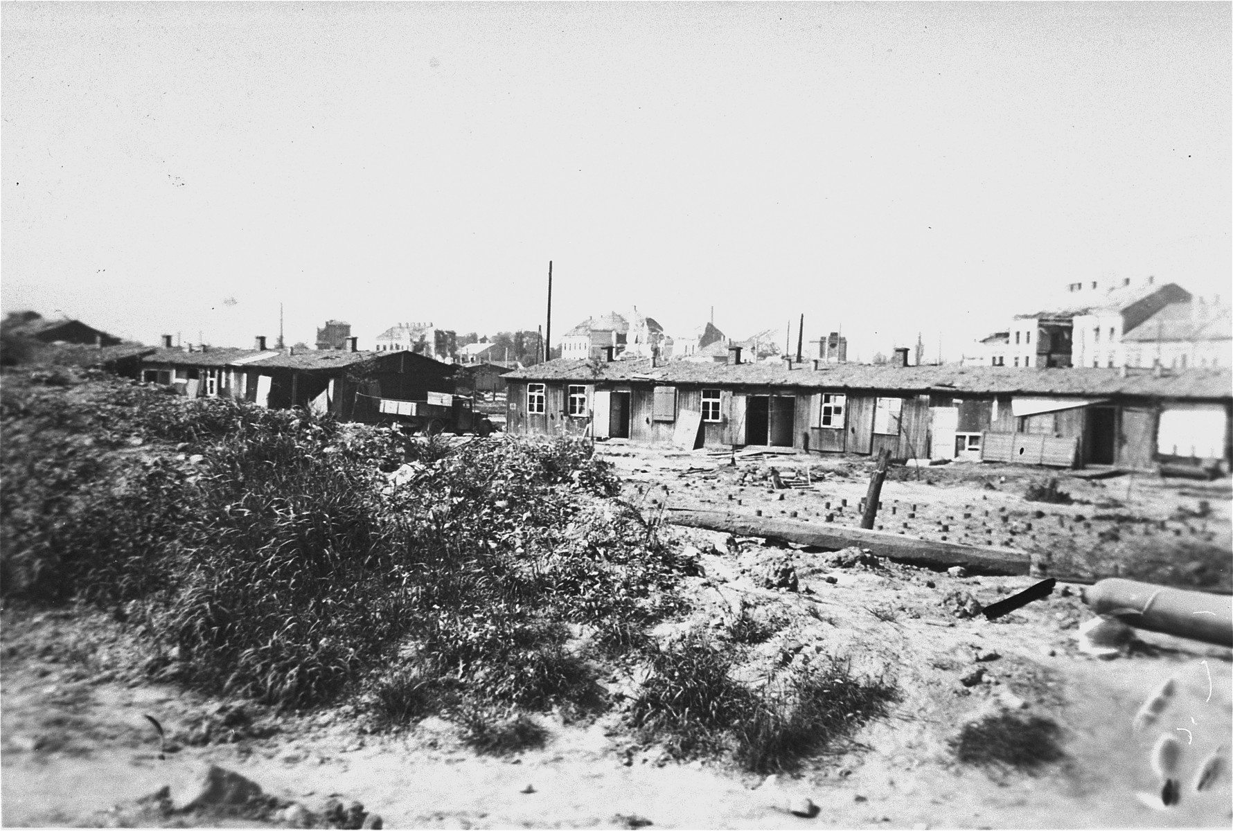 View of the Russian camp in one of the Linz sub-camps of Mauthausen.