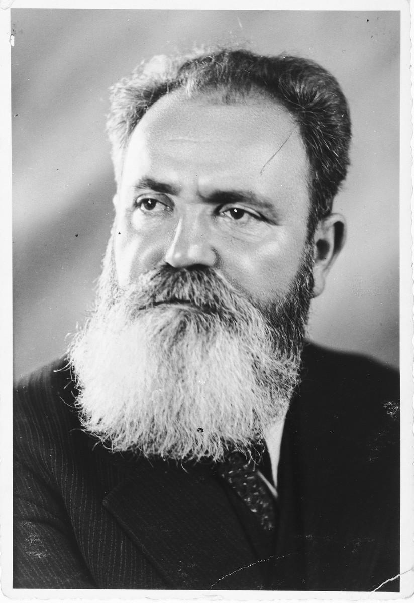 Portrait of Zionist leader Jacob Zerubavel.