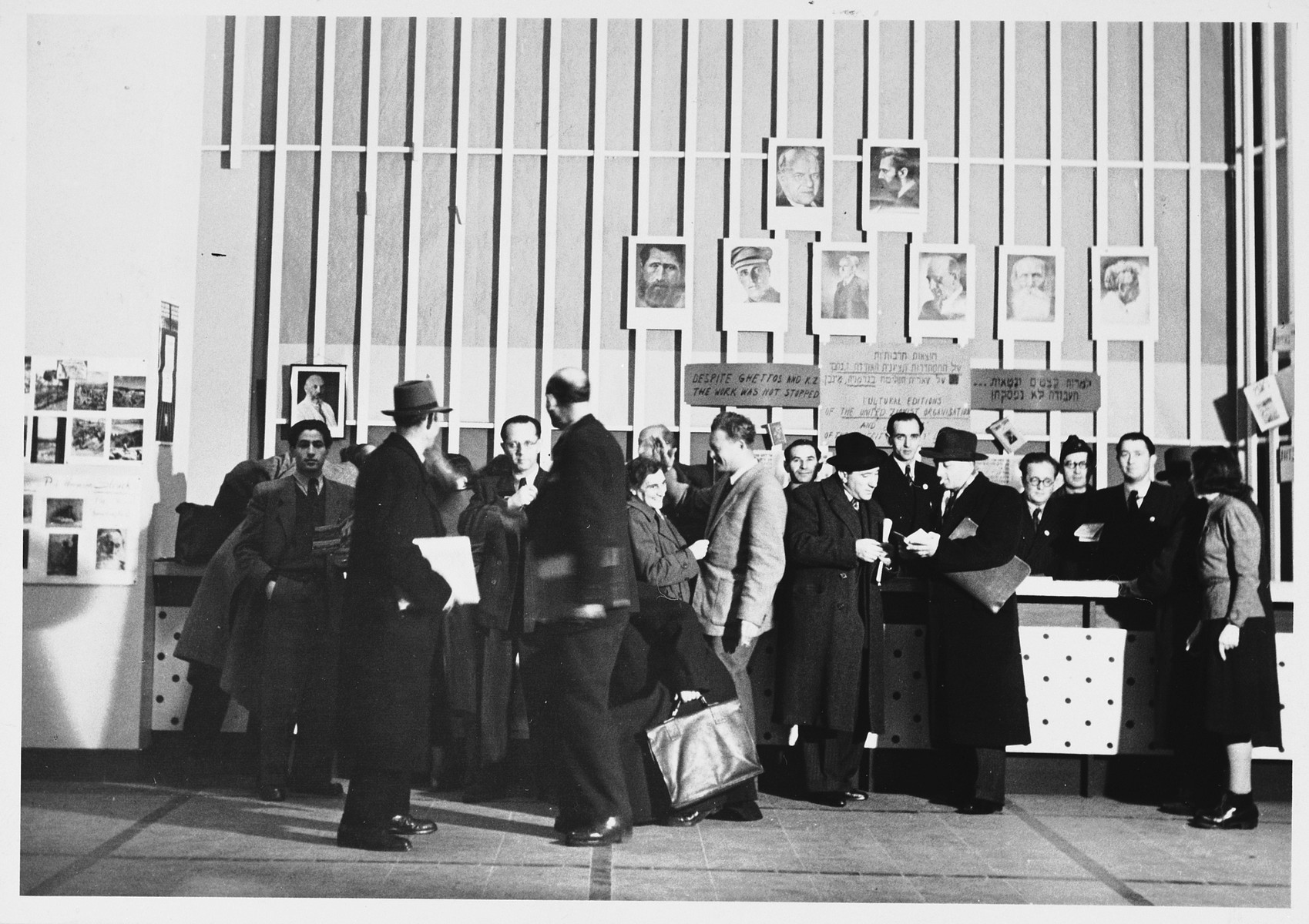 Delegates gather at the World Zionist Congress in Basel, Switzerland.  Among those pictured is Mendel Abramowicz.