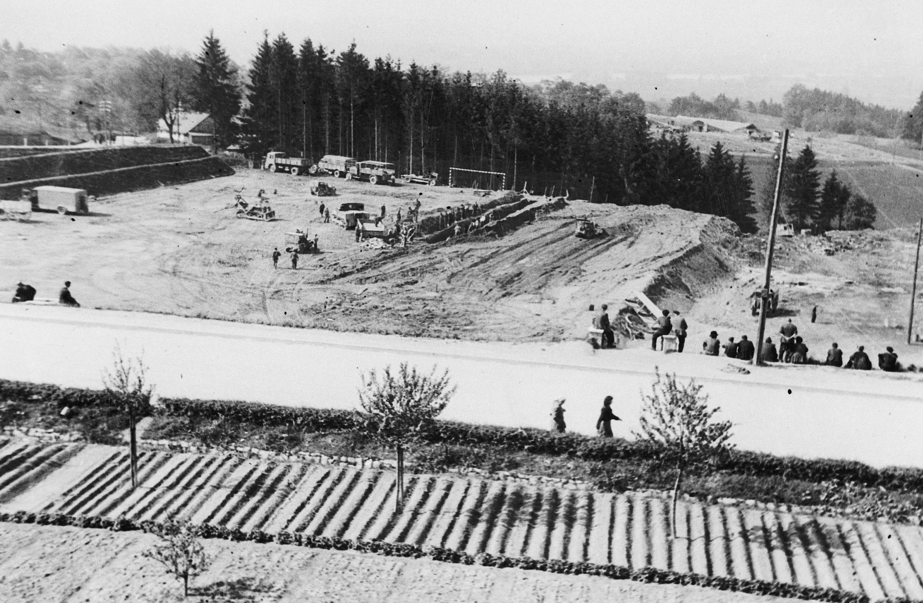 View of the Mauthausen concetration camp after liberation.