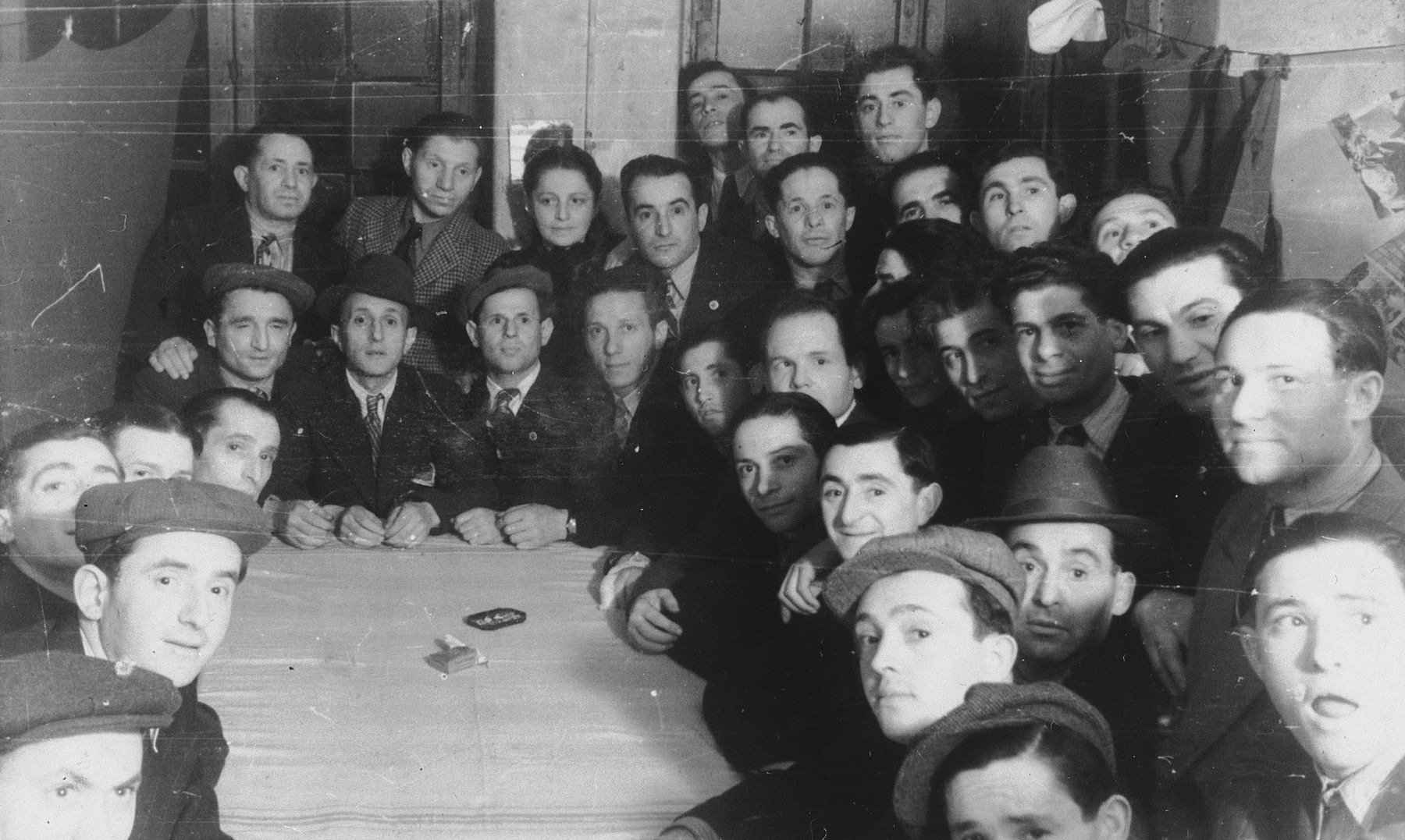 Members of Kibbutz Hatikvah in the Hofgeismar DP camp.