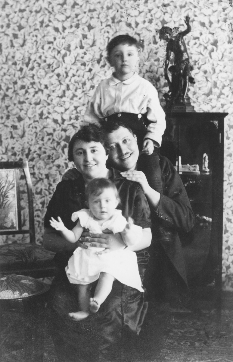 Members of a Jewish family in their home in Harbin, China.  Pictured are members of the Faingersch family.