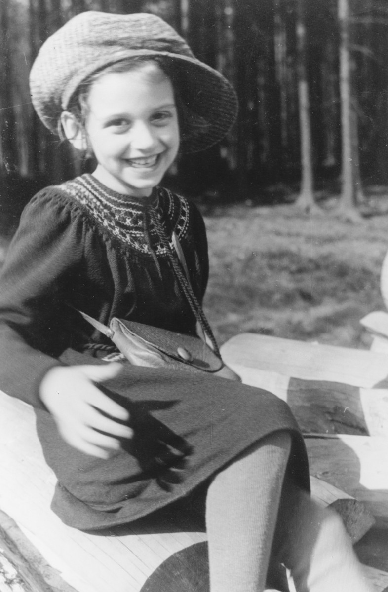 Portrait of a Jewish girl taken shortly before she left Germany on a Kindertransport to Scotland.  Pictured is Dorrith Oppenheim.