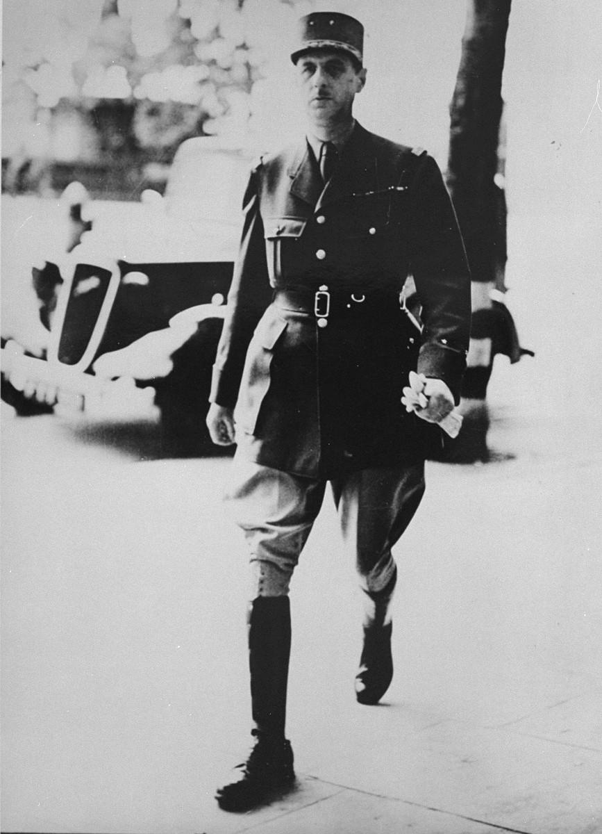 Charles de Gaulle in London.