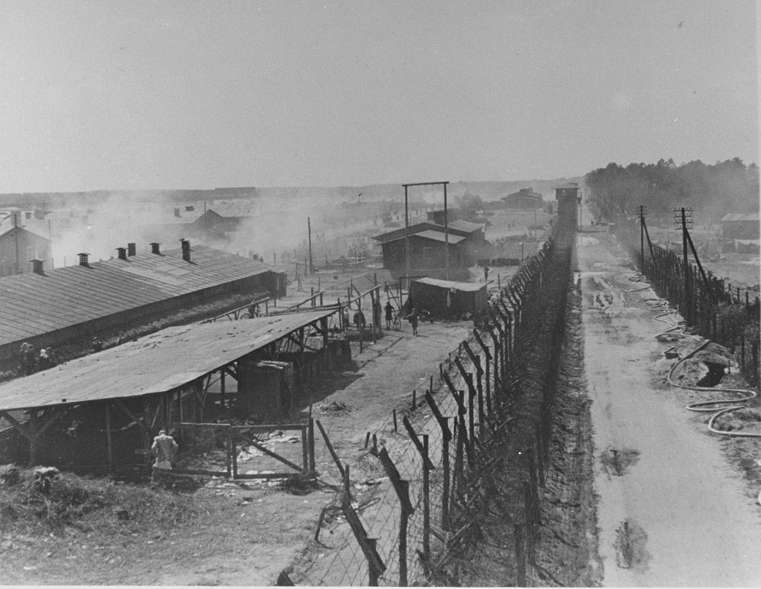 A section of Bergen-Belsen concentration camp.