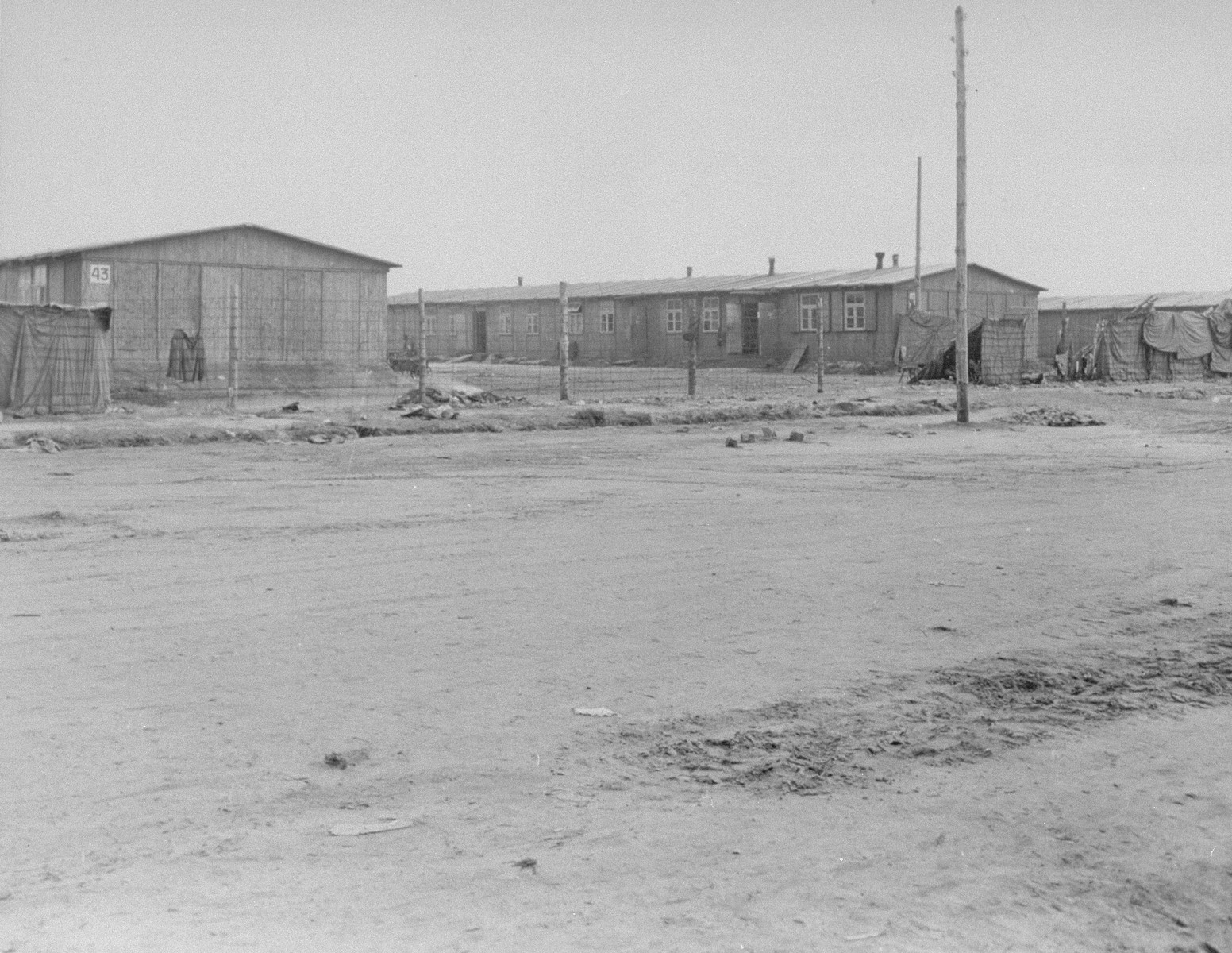 The women's barracks in Bergen-Belsen.
