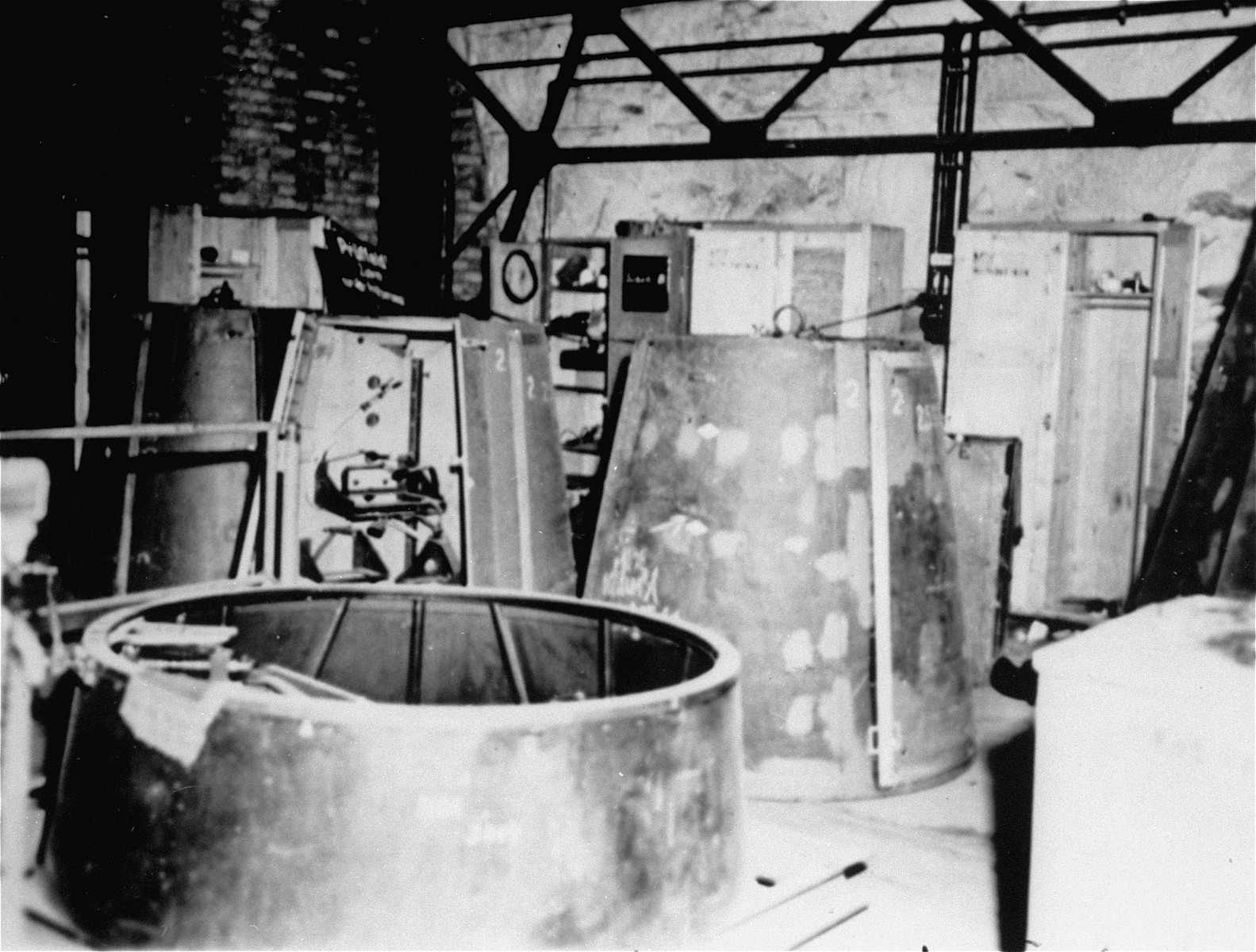 The testing department for the control section assembly of a V-2 rocket.