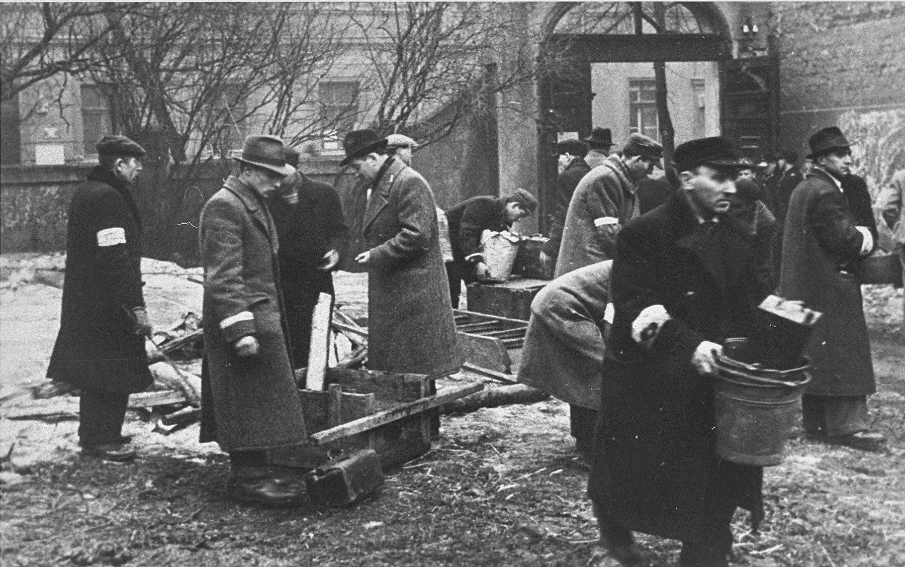 After a deportation action, a group of Jewish men is assigned the task of clearing out the homes of the deported.