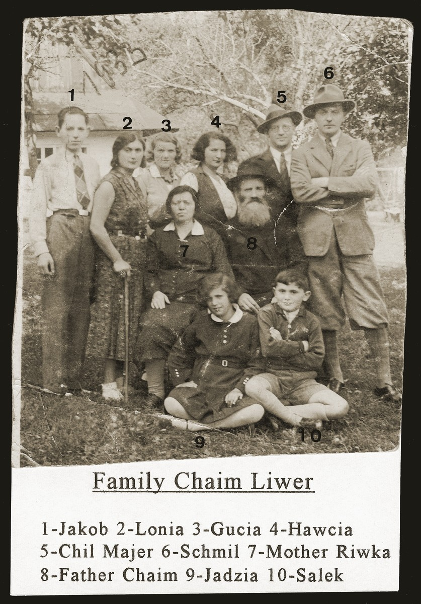 Portrait of the extended Liwer family in Bedzin.