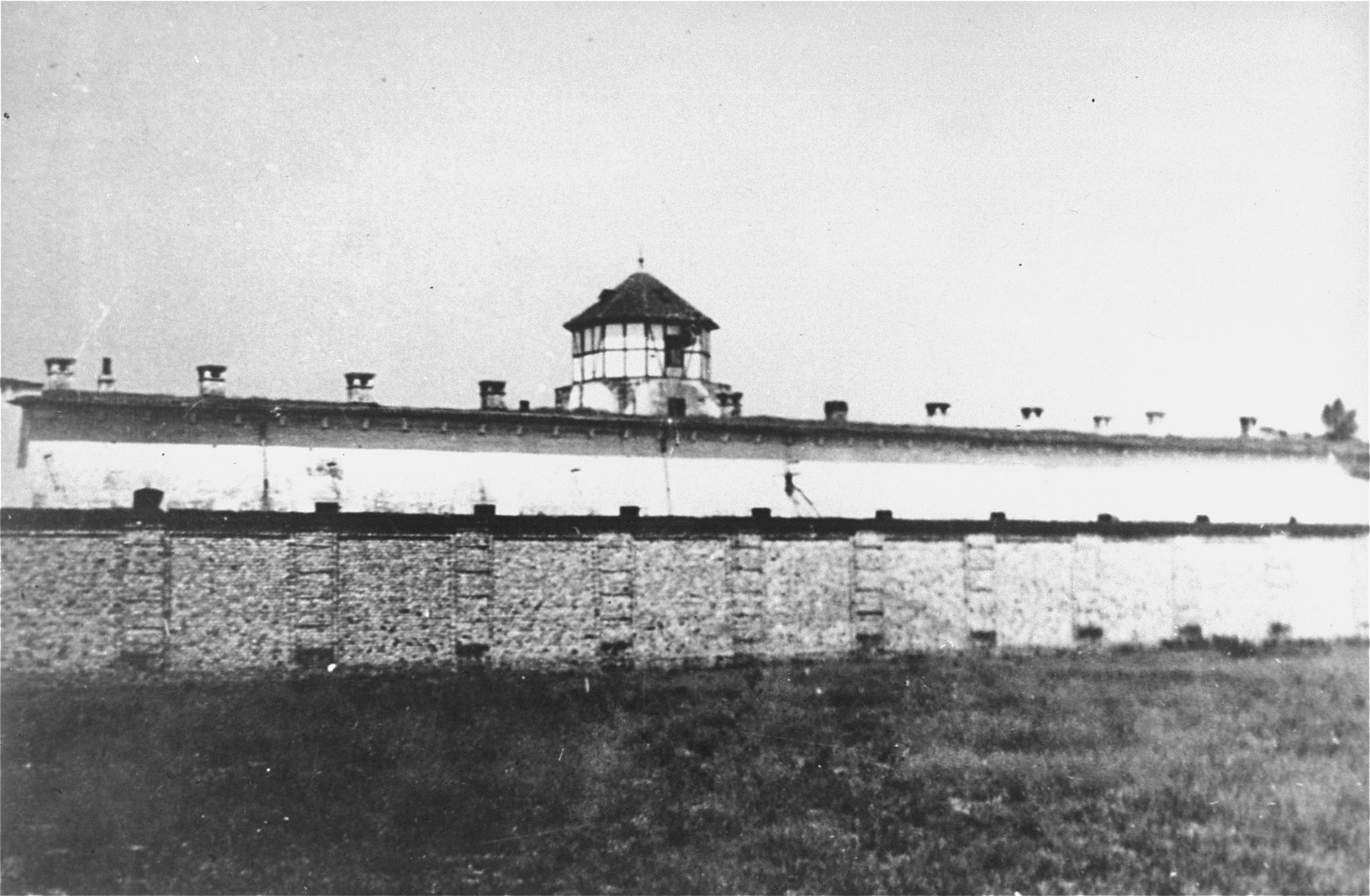 View of the Stara Gradiska concentration camp that was formerly an Austro-Hungarian fortress.