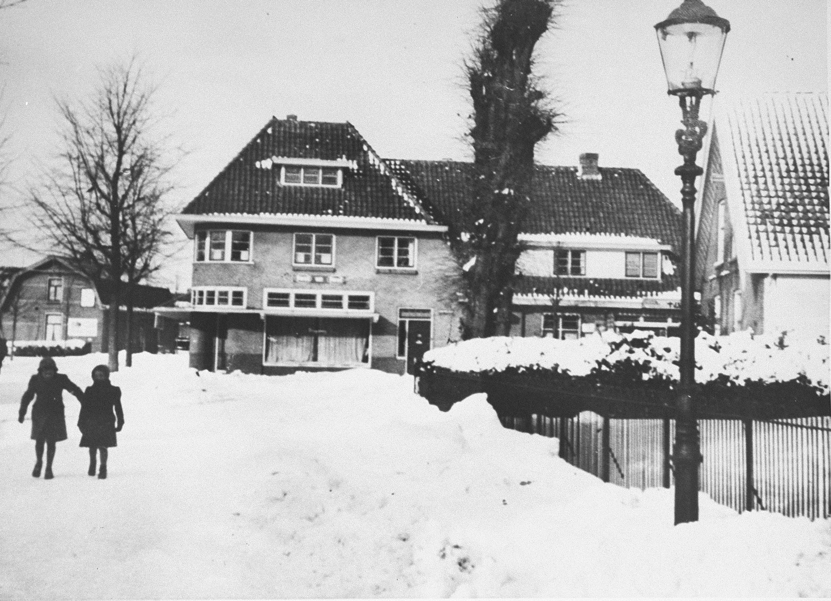 View of the home of Dutch rescuer Bert Bochove before the balcony was added.