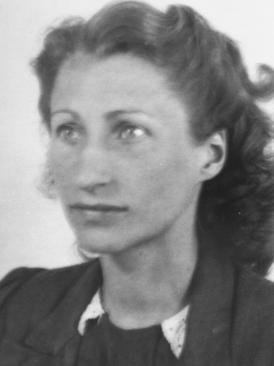 "Portrait of Dutch rescuer, Mia Edgar.   Mia, along with her husband, Boy, was in charge of a ""cell"" of the underground in Amsterdam. The Edgars were responsible for placing many Jews in hiding and themselves hid non-Jewish Dutch men who were supposed to report to work camps in Germany."