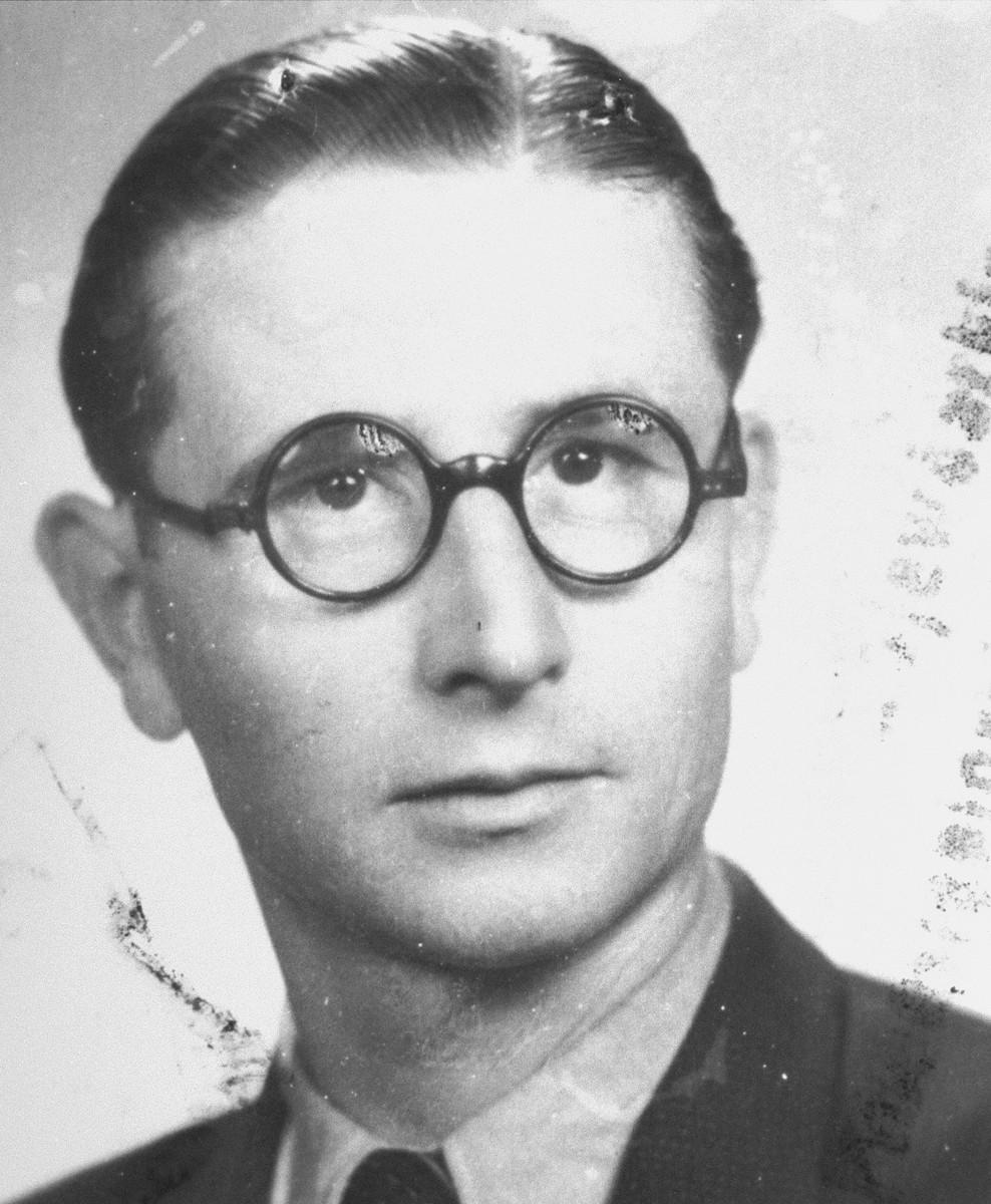 Portrait of rescuer, Tadeusz Kobylko.