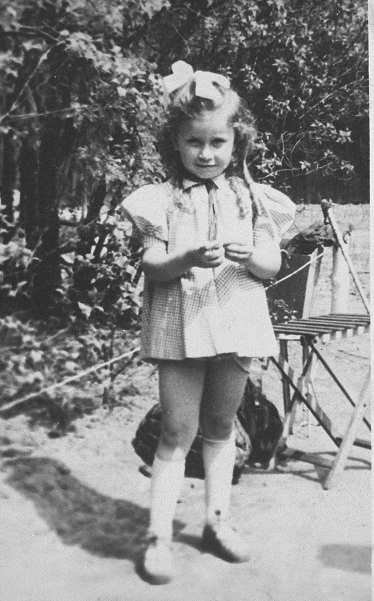 Portrait of Rita Berkowicz while living in hiding in Warsaw.