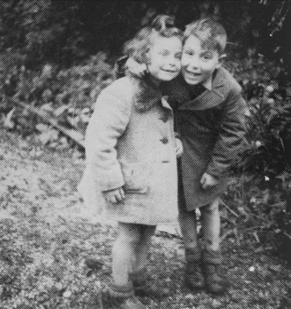 Two Jewish children (last names: Meltzer and Kotlar) in hiding in the vicinity of Radom.    They survived the war with the aid of the relief committee of the Jewish underground.  The parents of these children were involved in the rescue committee operating in the Radom labor camp.