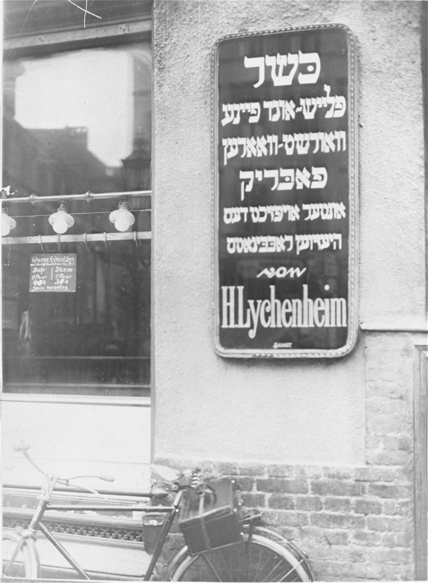 A kosher butcher shop in Berlin.