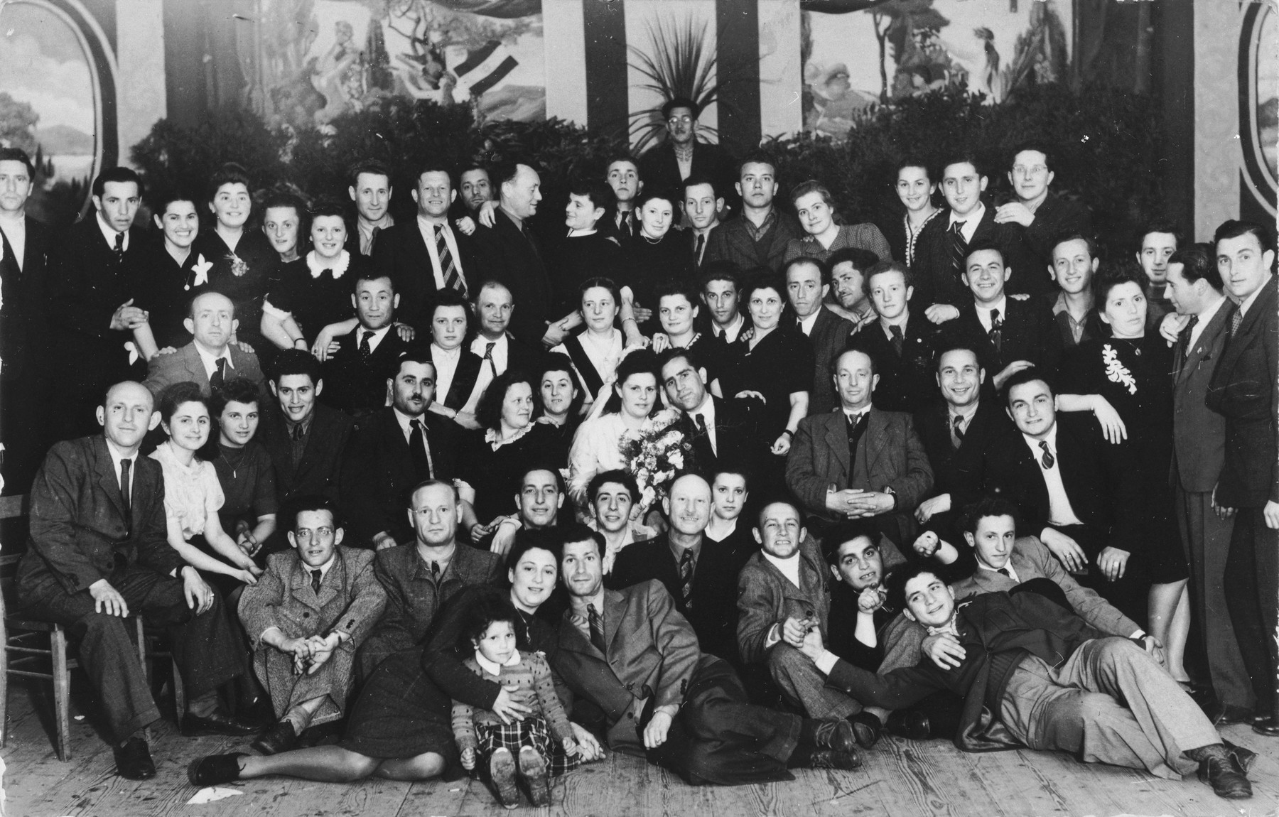 Jewish displaced persons celebrate a wedding in the Pocking DP camp.