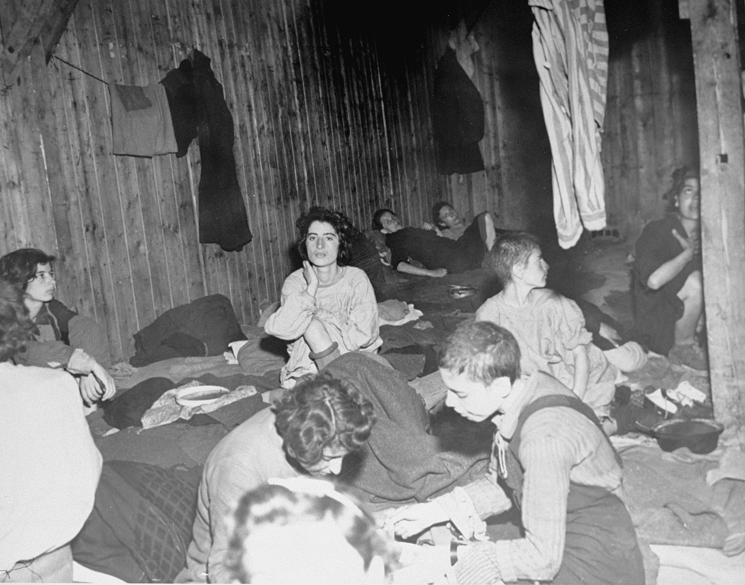 Women survivors suffering from typhus in the Bergen-Belsen concentration camp.