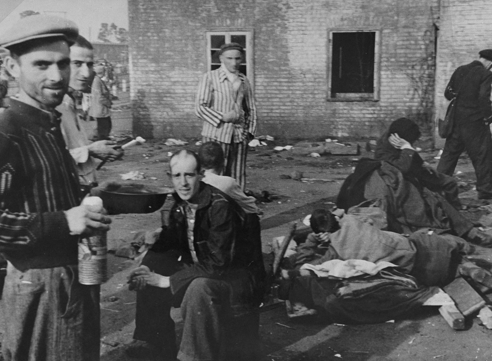 Survivors in Bergen-Belsen.