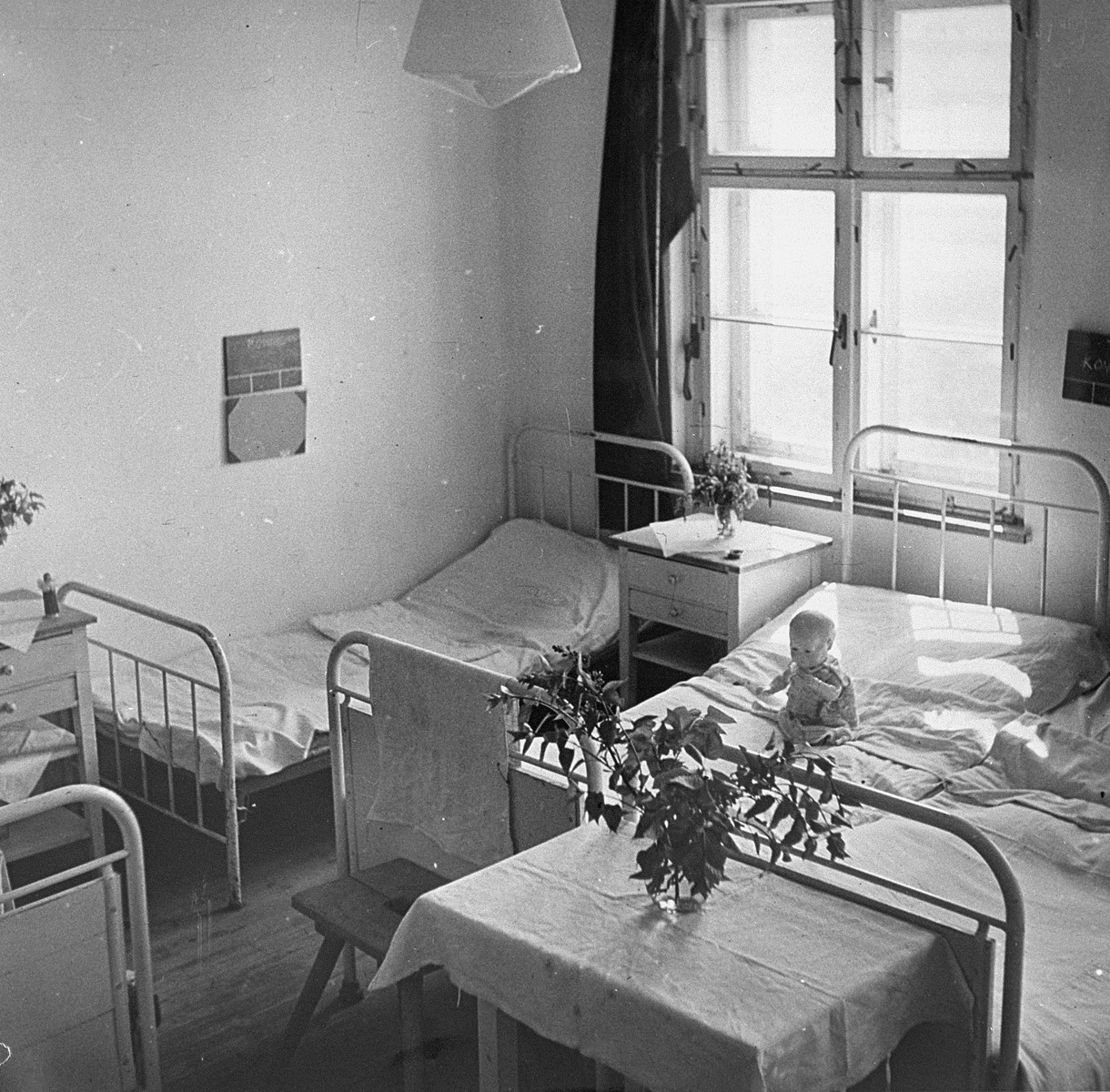 A ward set up for child survivors liberated from Bergen-Belsen.