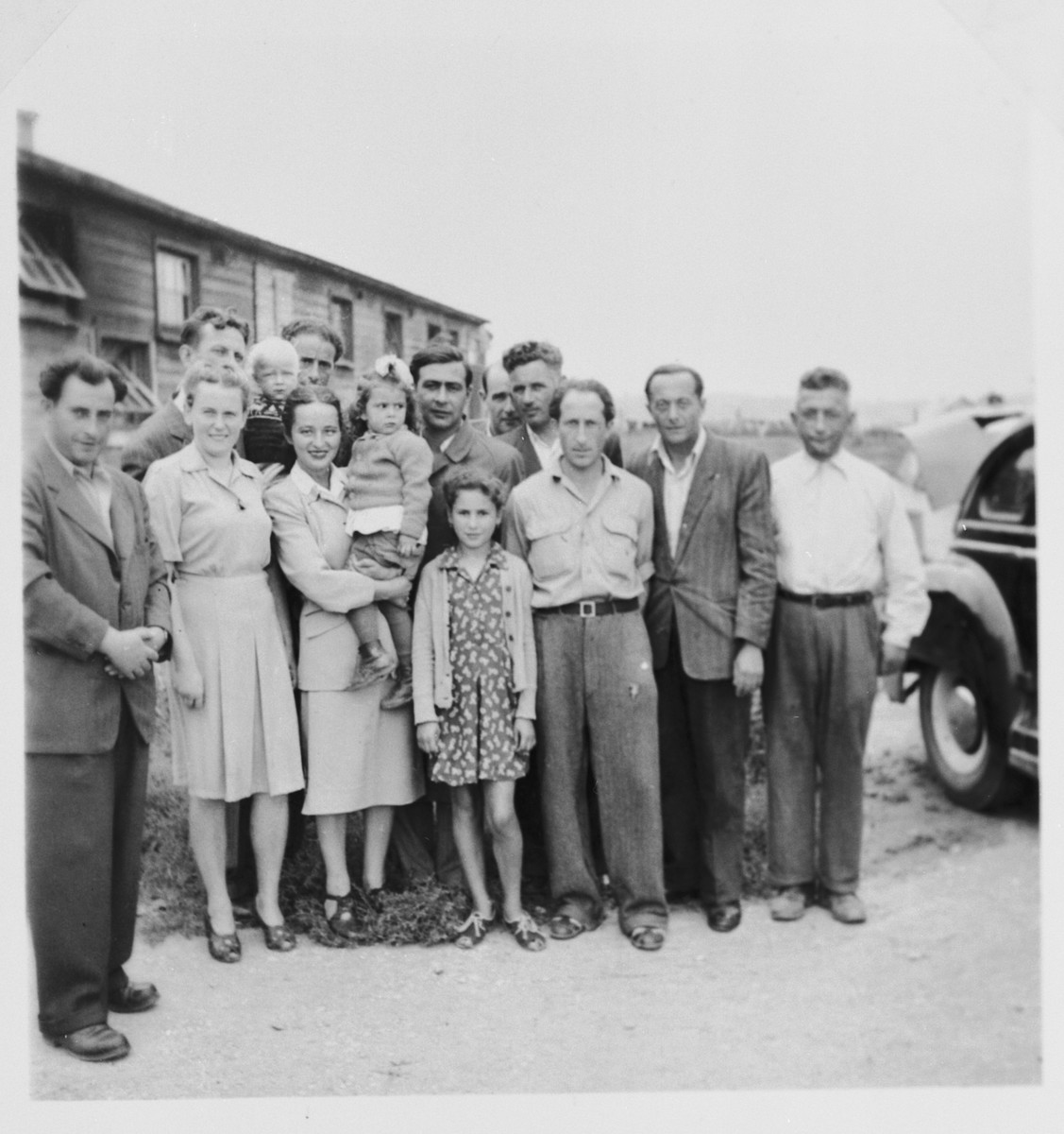 Jewish displaced persons and supporters of the Free Land League gather together in Steyr.
