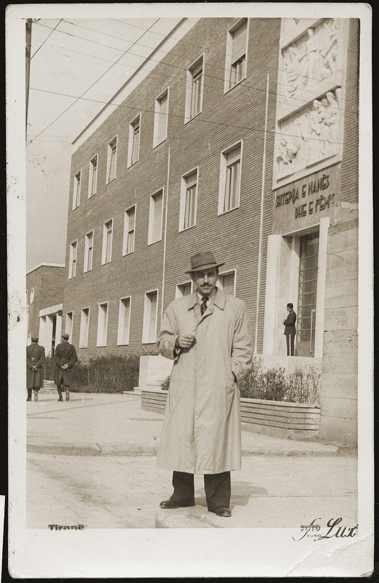 Mosa (Moshe) Mandil in Tirana.