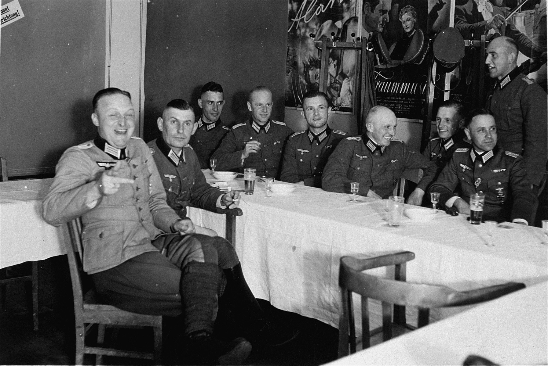 German officers at a celebration.