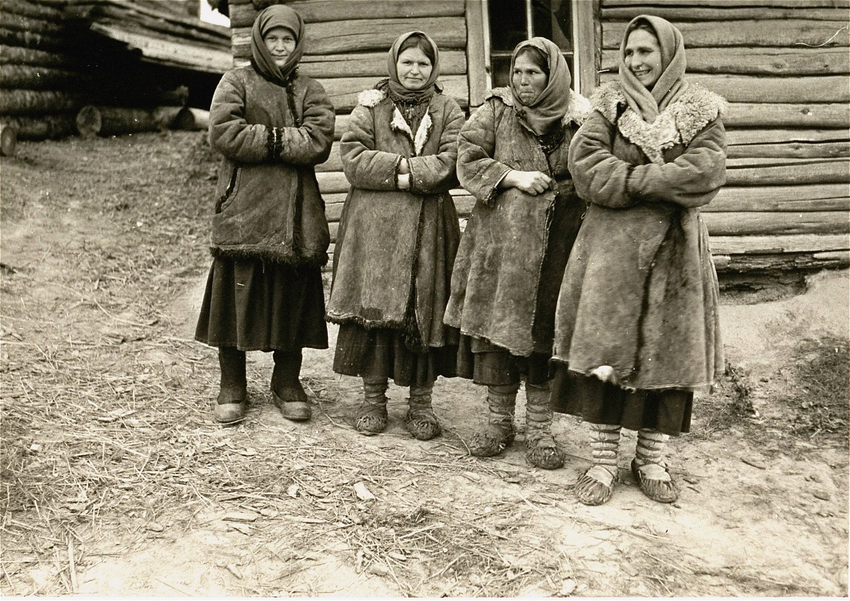 Four Soviet peasant women photographed by a German soldier shortly after the German invasion of the USSR.