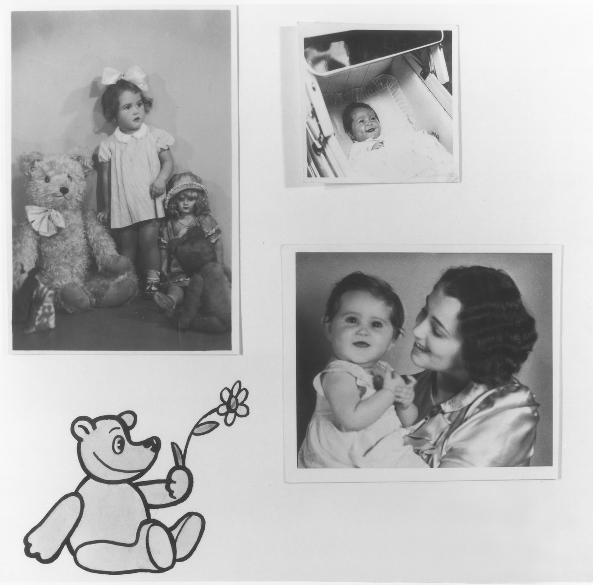 Page from a baby album belonging to Alena Pekova.