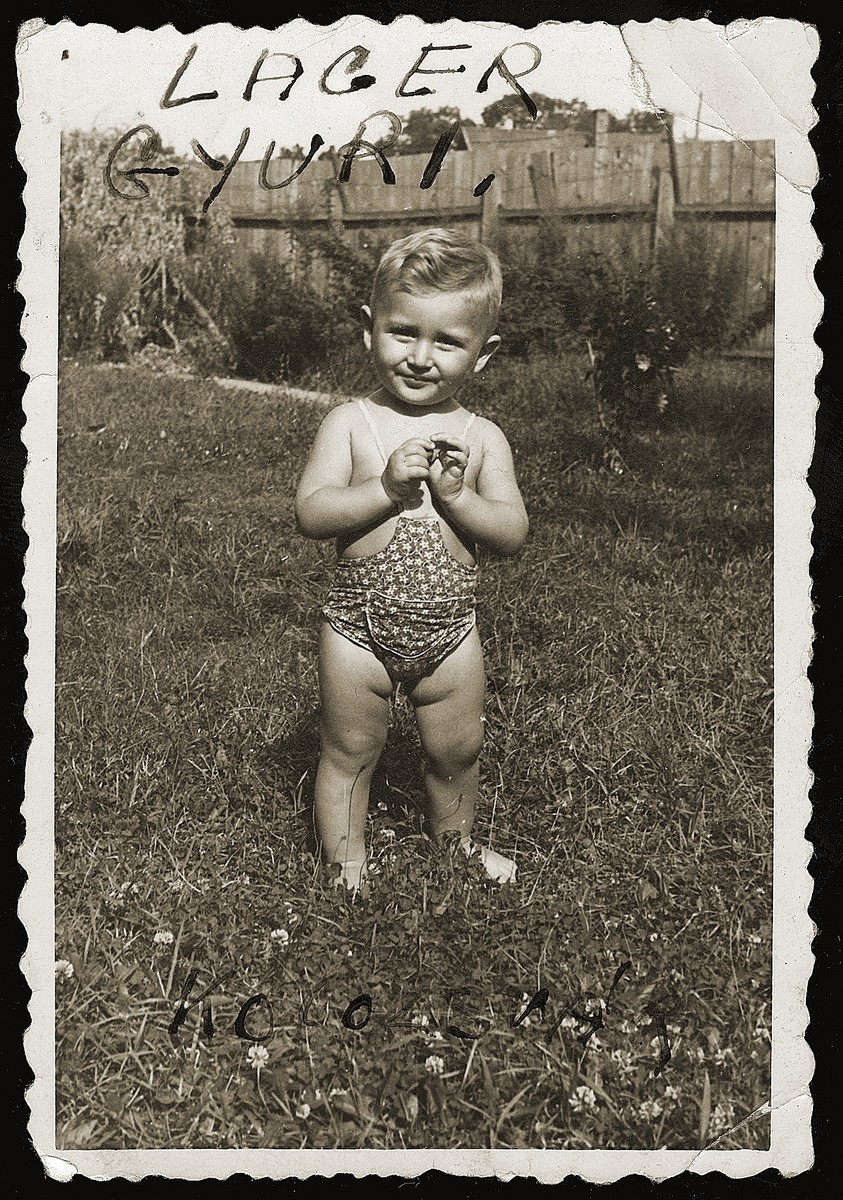 Portrait of Gyuri Legmann (the son of Boezi Legmann), one of the seven Kaufering babies born to the women of the Schwanger [pregnancy] Kommando in the Kaufering concentration camp in the winter of 1945.