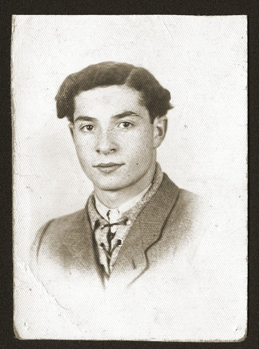 Studio portrait of a Jewish youth, Jakob Fiszel.