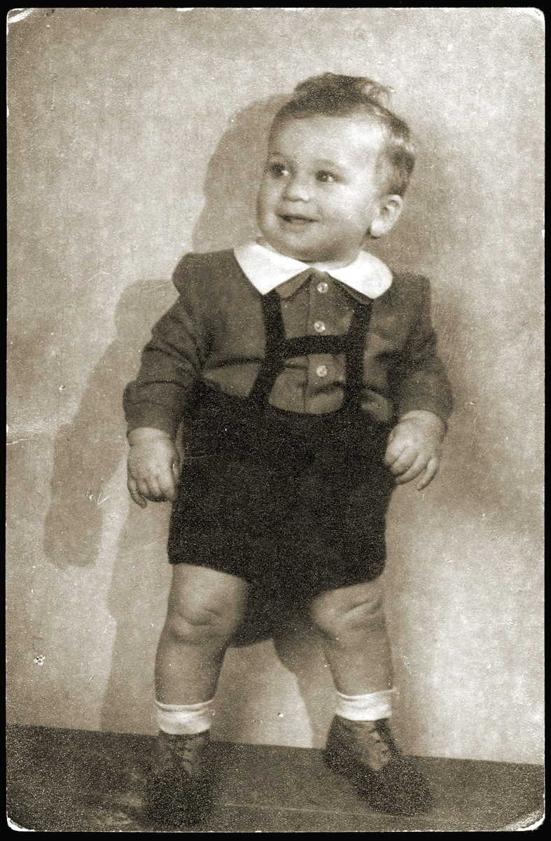 Portrait of Laici Rosenthal, one of the seven Kaufering babies born to the women of the Schwanger [pregnancy] Kommando in the Kaufering concentration camp in the winter of 1945.