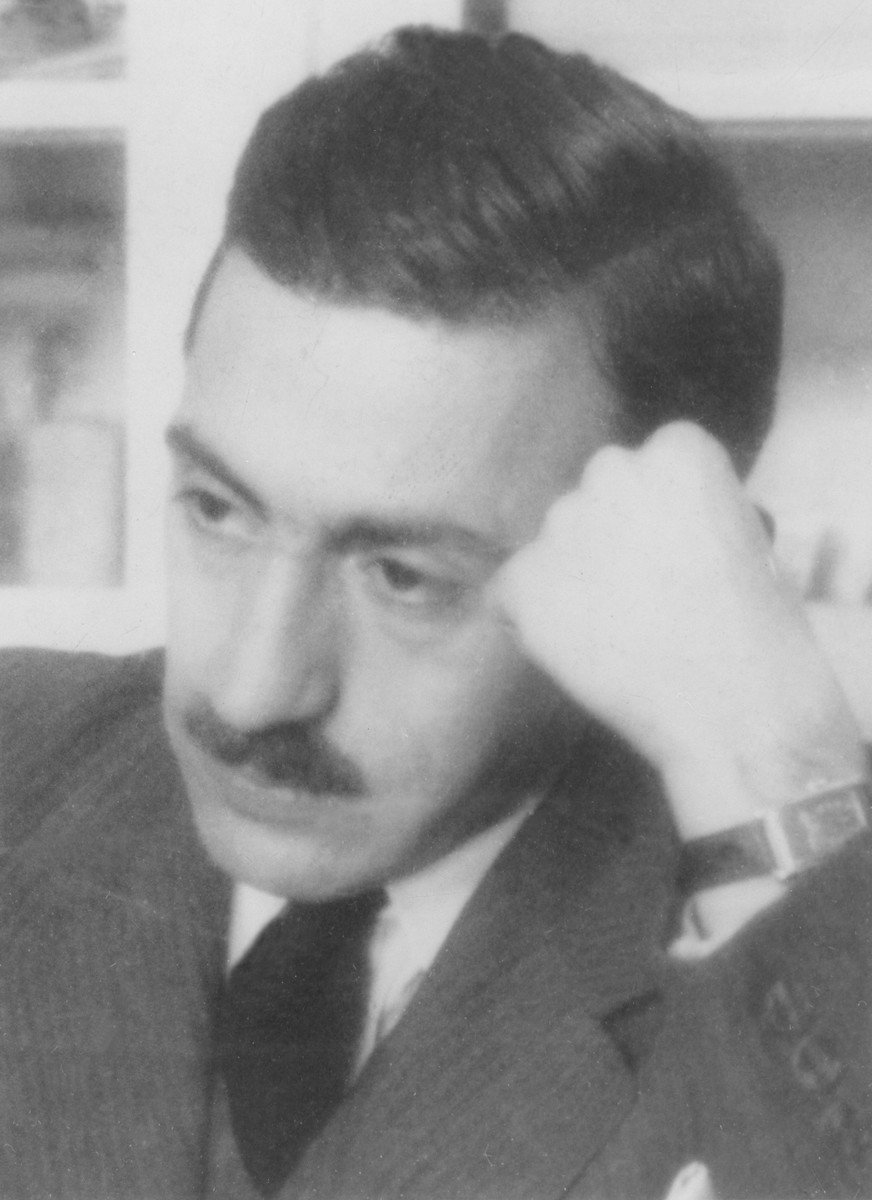 Studio portrait of Bela Liebmann.