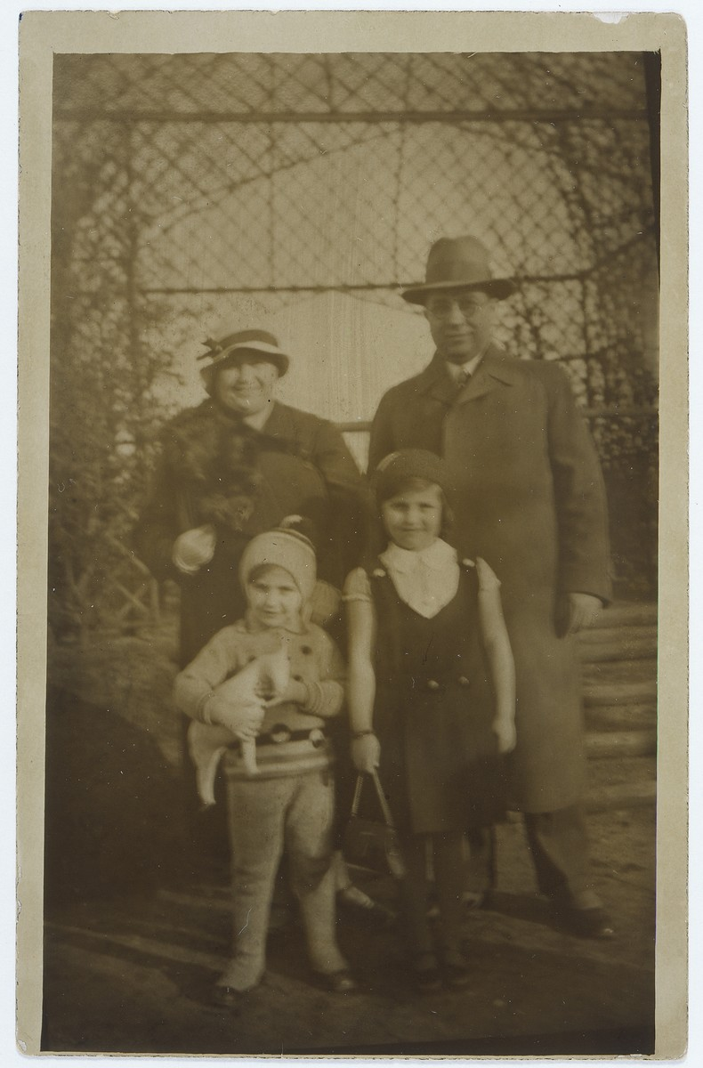 Regina Rotenberg with her mother Toni, her father Max, and her brother Wolfgang.