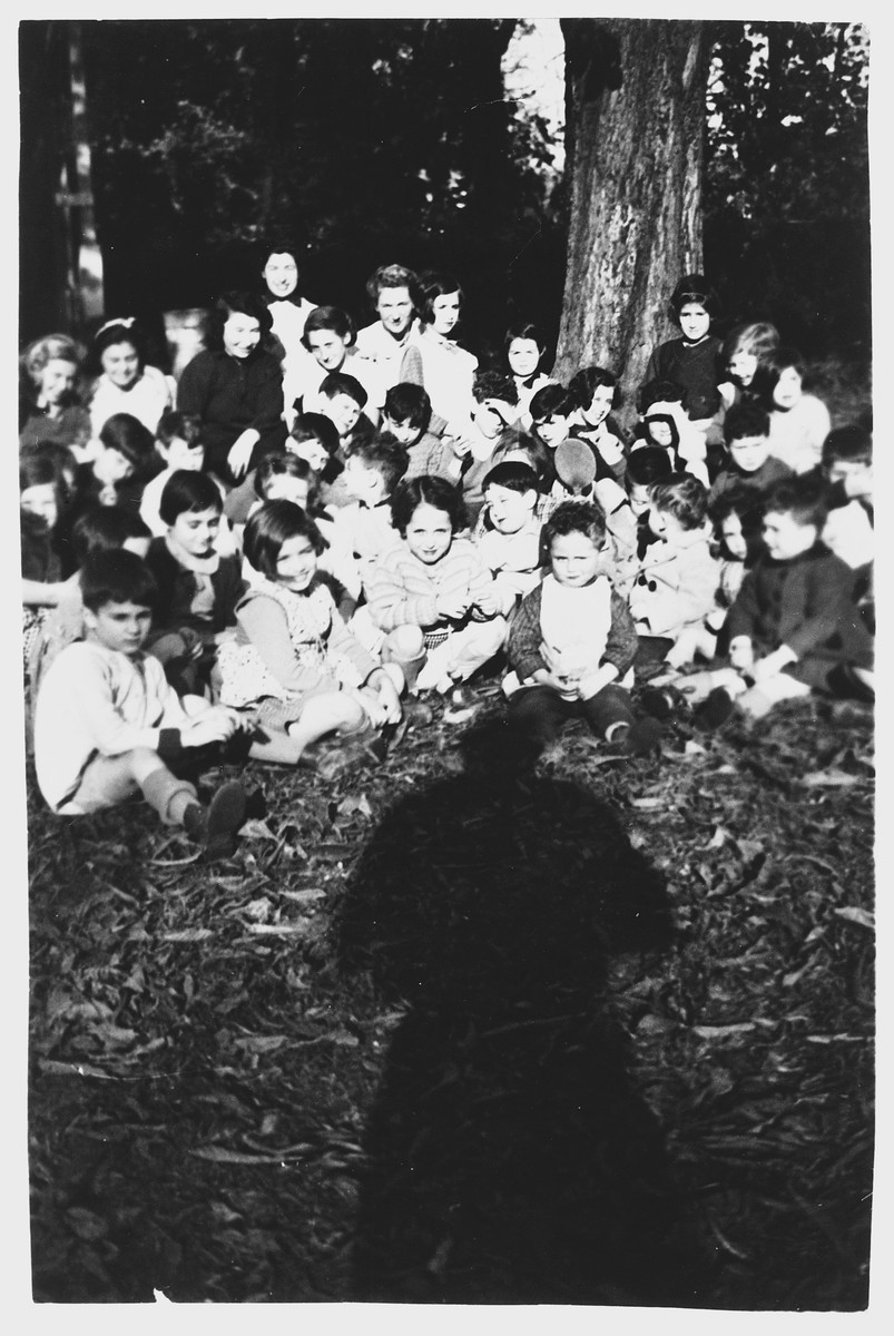 Group portrait of Jewish refugee children in the Villa Helvetia children's home.